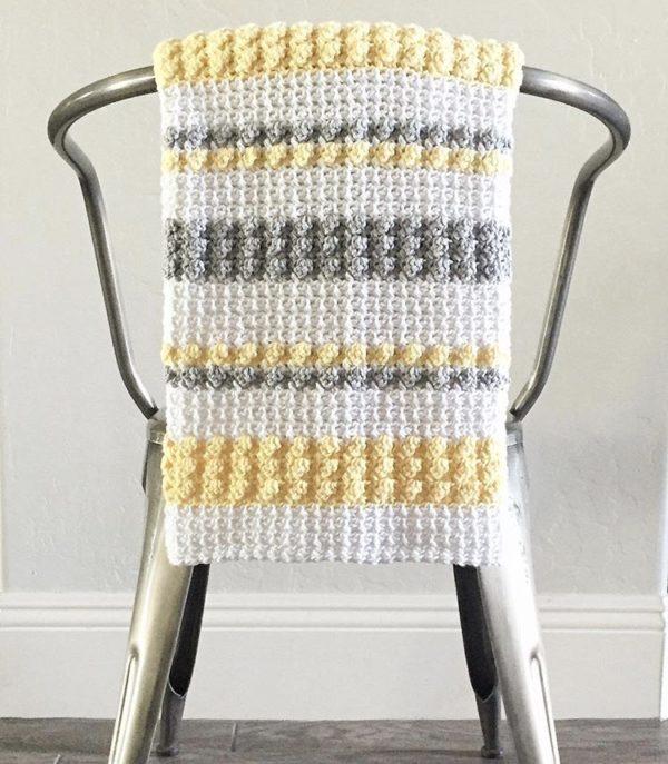 Crochet Mesh and Bobble Blanket