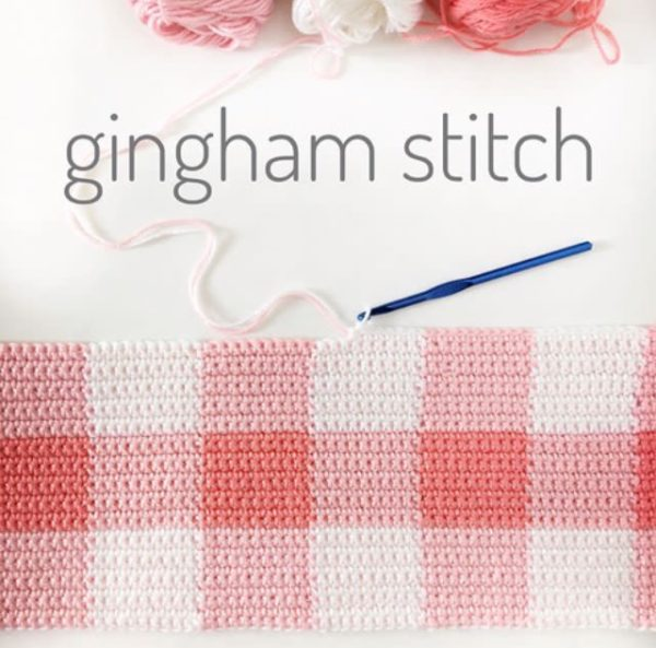 gingham crochet blanket