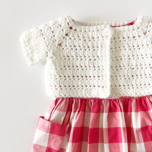 crochet baby sweater shrug picture