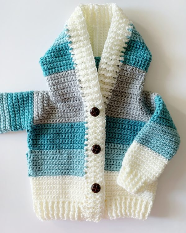 Crochet Four Color Baby Sweater