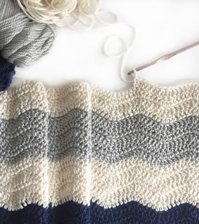 Crochet Ripple Blanket - Daisy Farm Crafts free crochet pattern