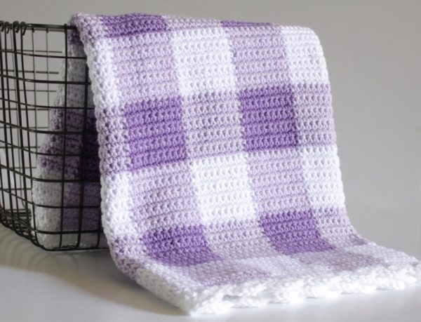 purple crochet blanket