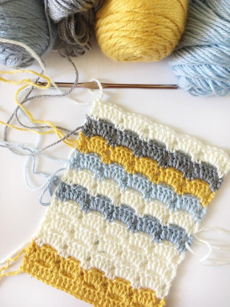boxed block crochet stitch