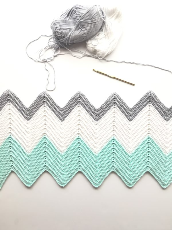crochet chevron blanket