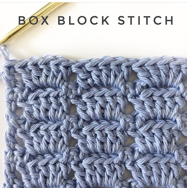 Crochet Box Block Stitch Daisy Farm Crafts