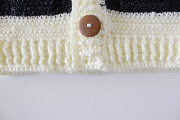Crochet Hudson's Bay Baby Sweater