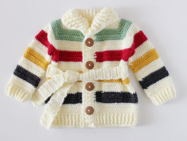 4e4996e9a75b Crochet Vintage Stripes Baby Sweater