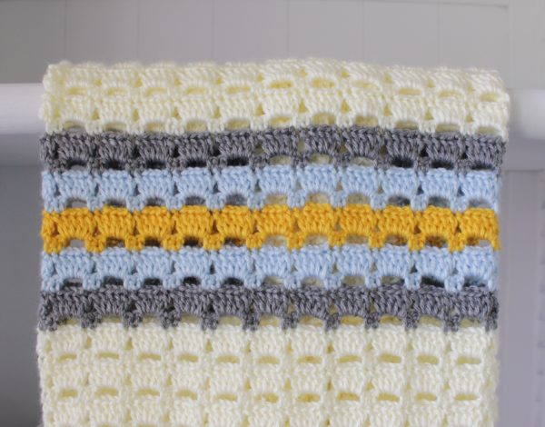 Crochet Boxed Block Stitch Blanket Daisy Farm Crafts