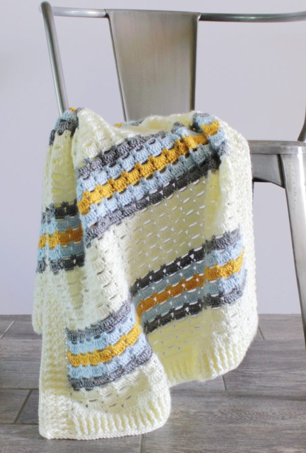 boxed block crochet blanket image