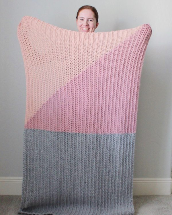 crochet modern throw