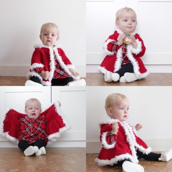 Crochet Christmas Baby Sweater