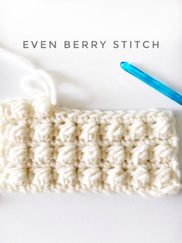 crochet even berry stitch