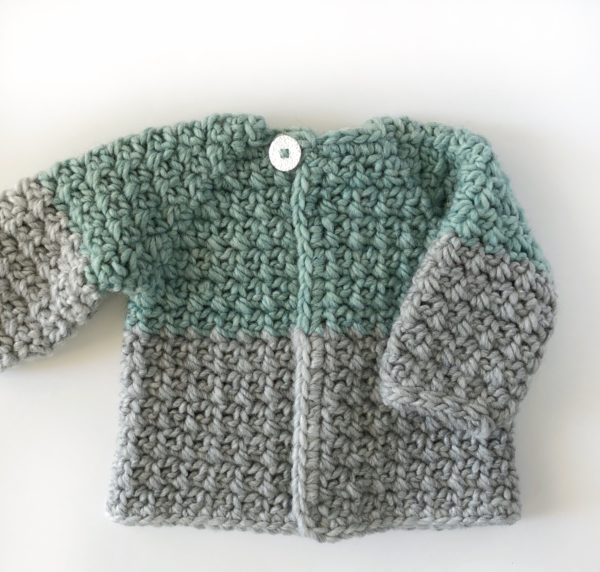 crochet mesh stitch baby sweater