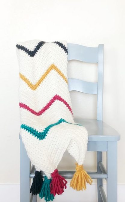 Crochet Tribal Chevron Blanket