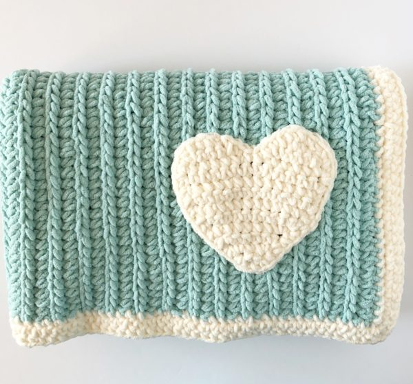 Crochet Modern Mint Throw - Daisy Farm Crafts Free Crochet Pattern