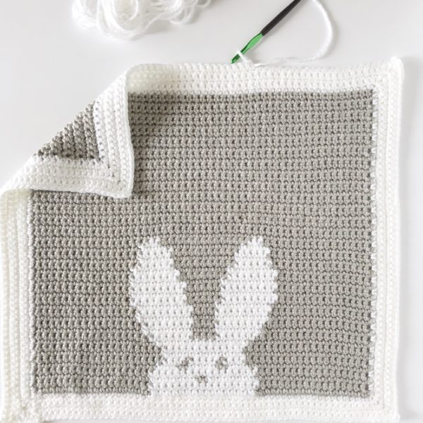 bunny blanket picture crochet