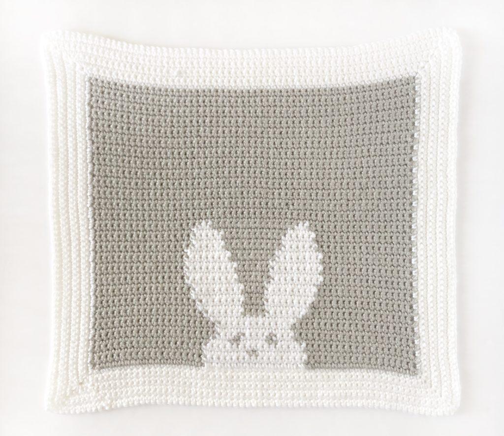 Crochet Modern Bunny Lovey Daisy Farm Crafts