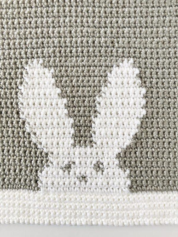 crochet bunny blanket image