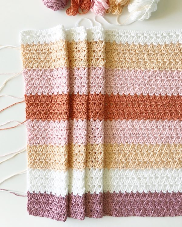 modern boho granny crochet blanket from daisy farm crafts