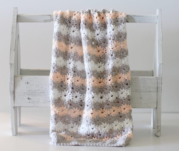 Crochet Petal Stitch Baby Blanket - Daisy Farm Crafts free pattern