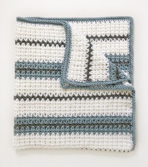 Modern Double Crochet V-Stitch Blanket