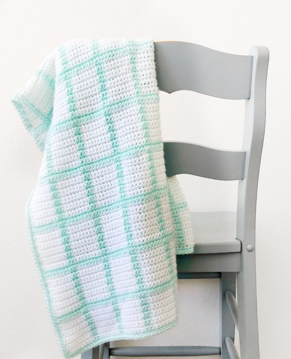 Crochet Windowpane Baby Blanket