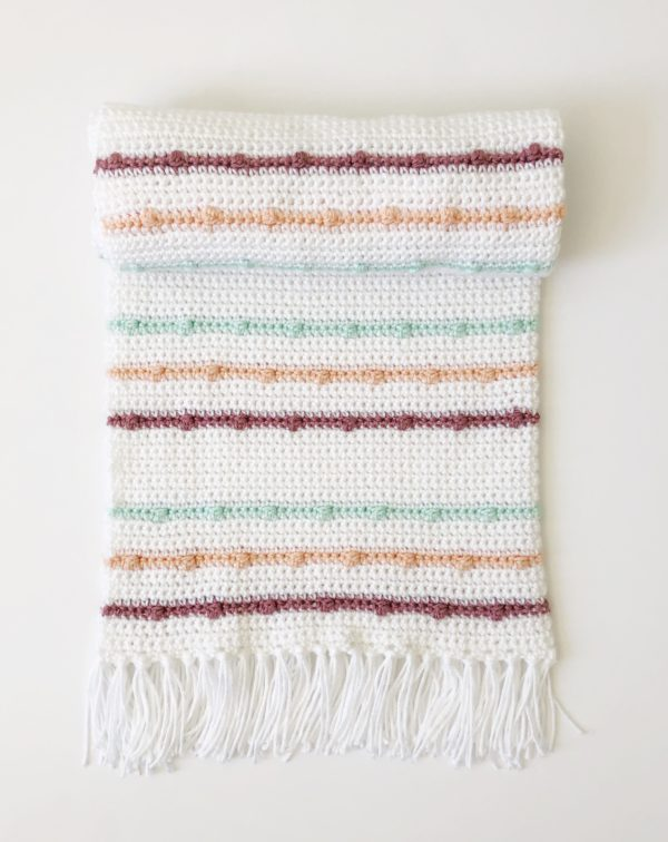 Crochet Boho Berry Stitch Blanket