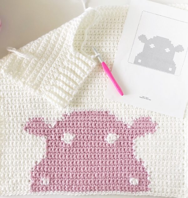 Holly the Hippo Crochet Blanket
