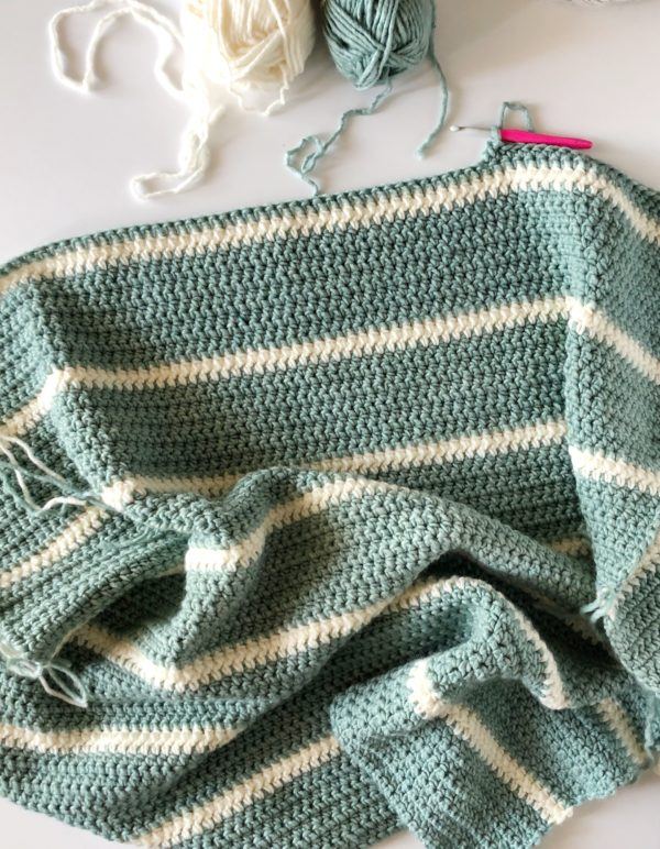 Modern Low Tide Crochet Throw