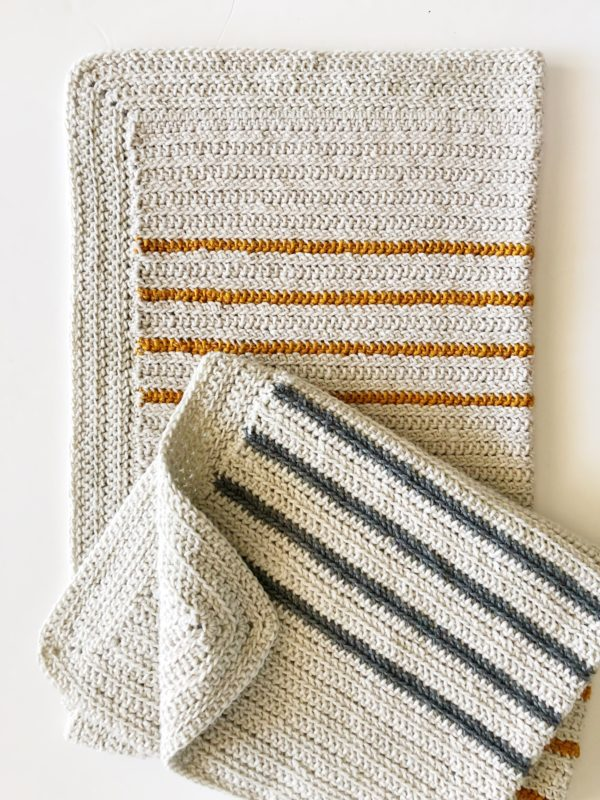 Annie's Crochet Herringbone Half Throw