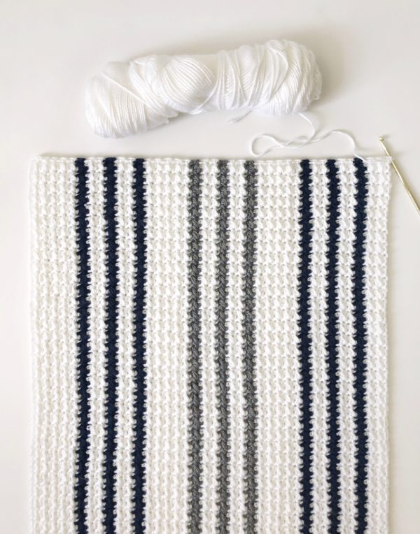 Crochet Modern Even Moss Blanket