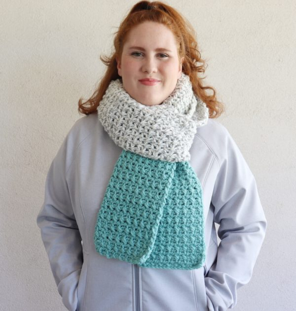 Crochet Color Dipped Scarf
