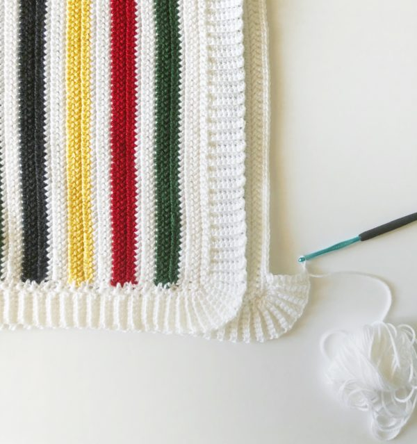 crochet pendleton stripe blanket