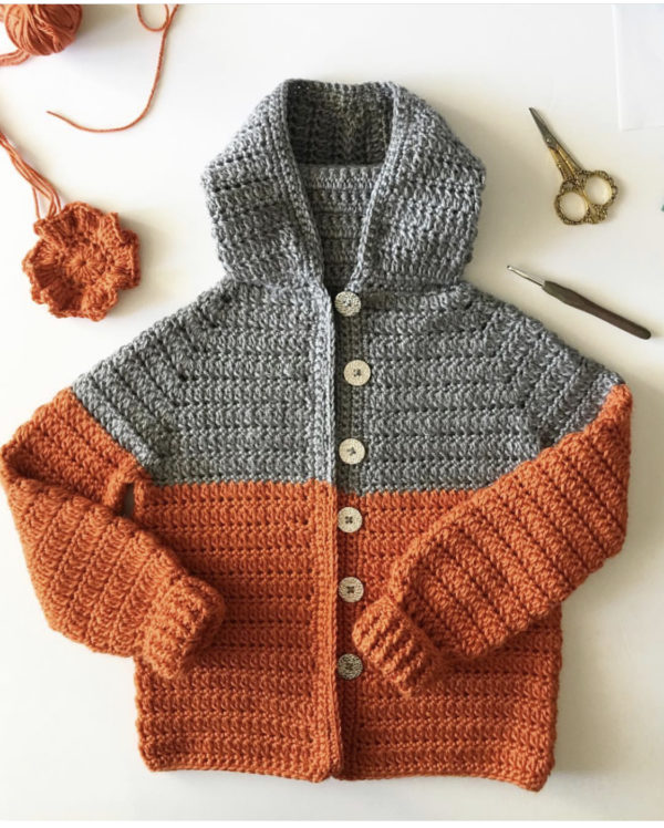 Crochet Color Block Sweater