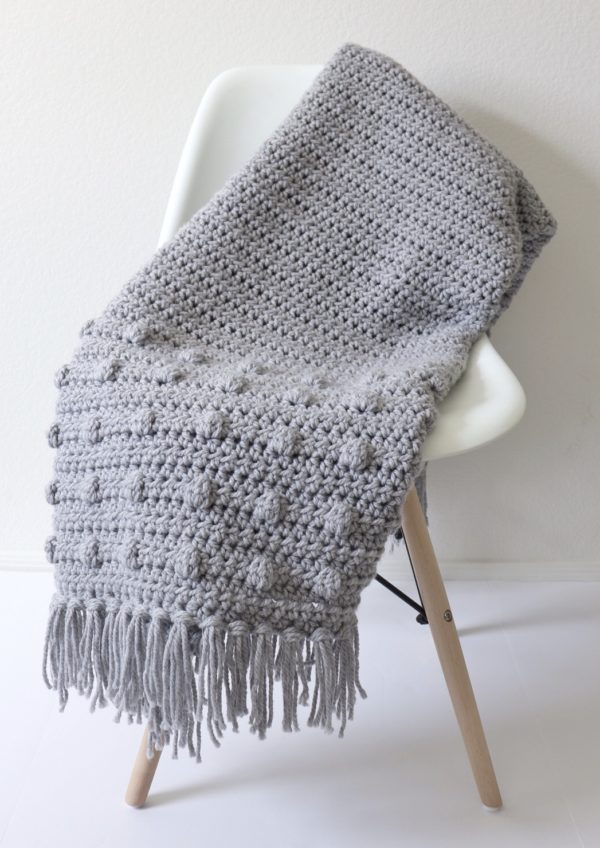 Crochet Dotted Edge Throw