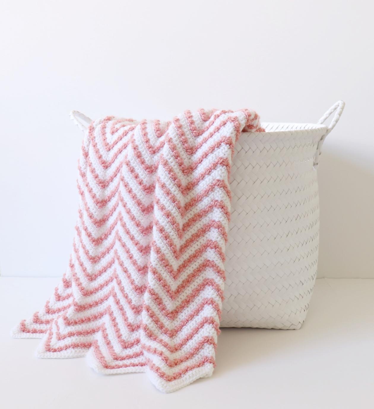 e9d26f673b1 Crochet Berry Chevron Baby Blanket