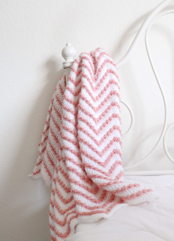 4743f997bed Even though this Berry Chevron Baby Blanket isn t that big