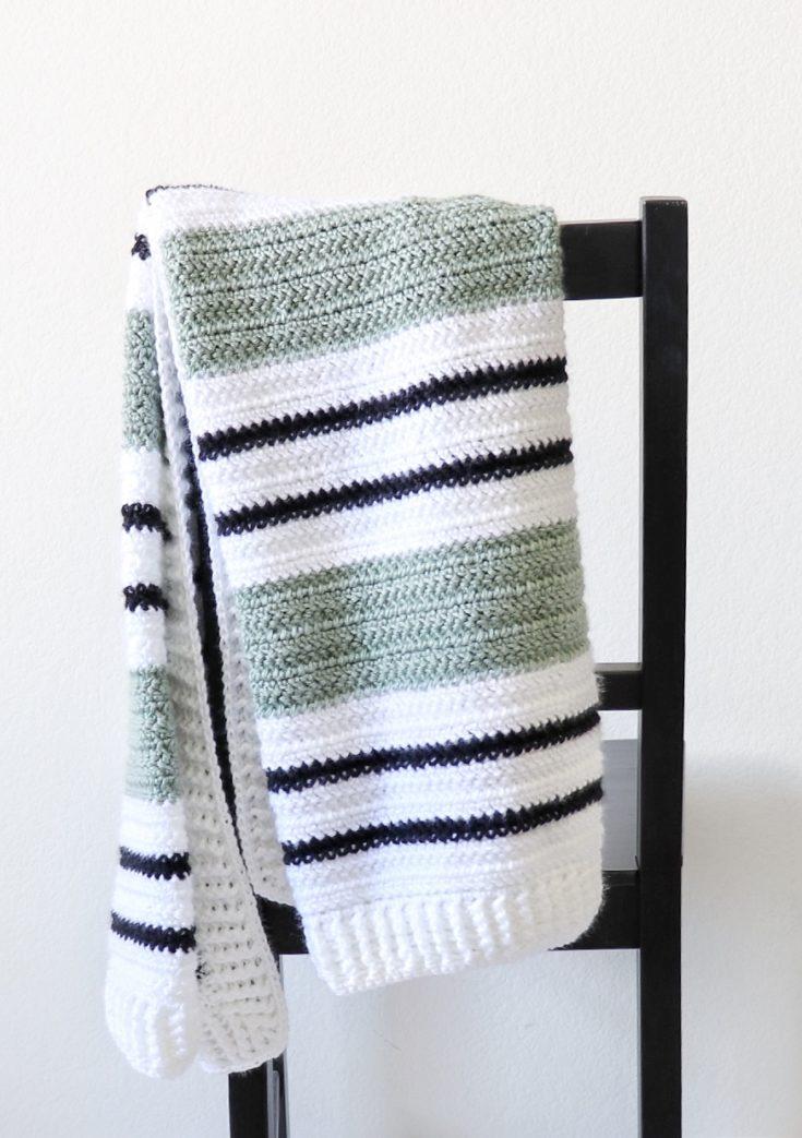 Crochet Woodland Heather Baby Blanket