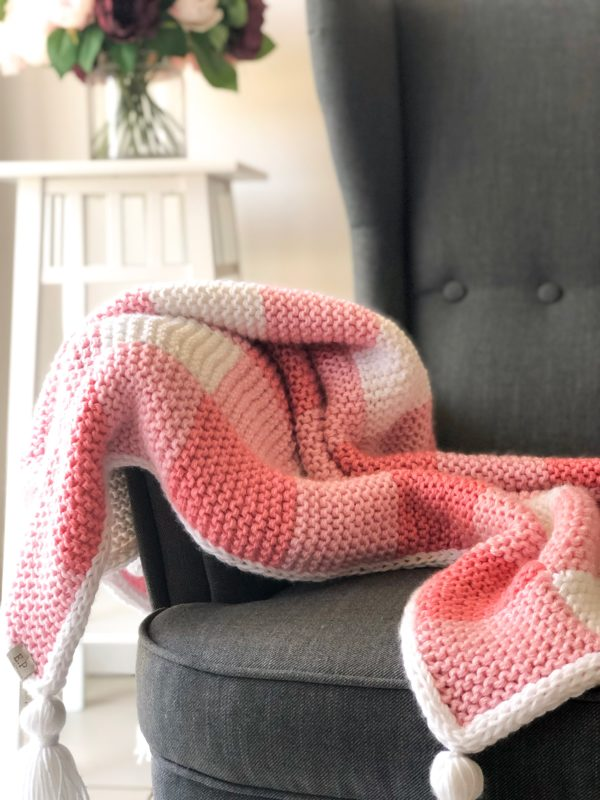 Knit Gingham Blanket by Elizabeth Park Collections
