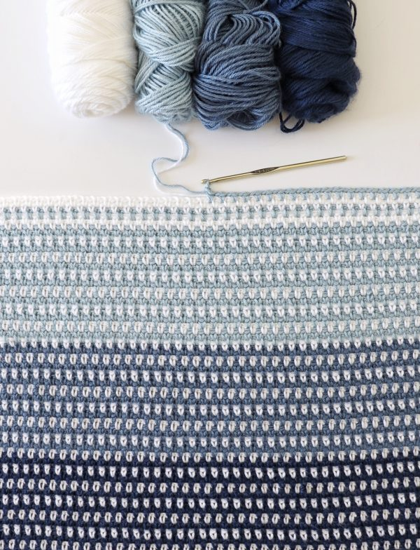 Crochet Country Blues Baby Blanket