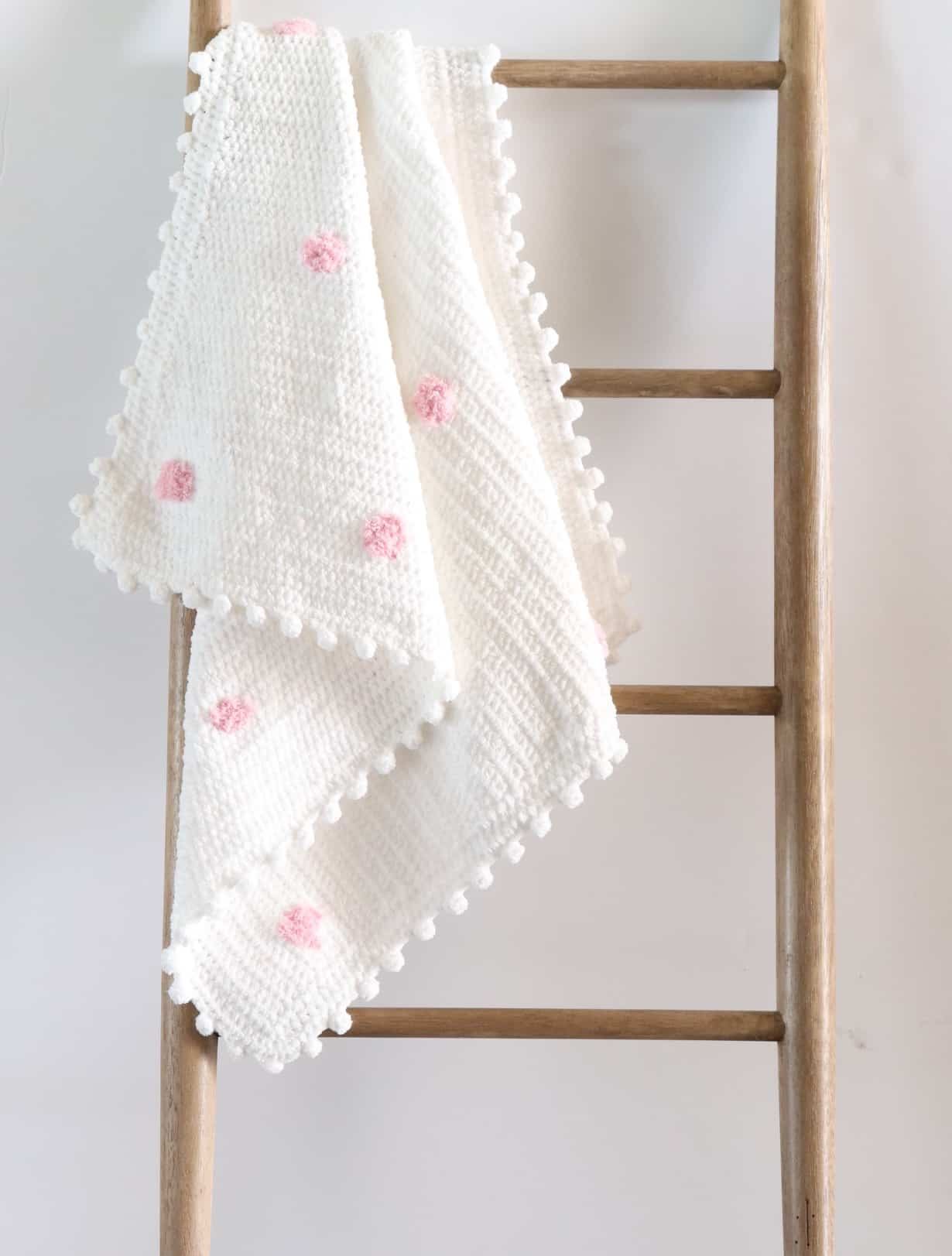 Crochet Pink Dots Baby Blanket Daisy Farm Crafts