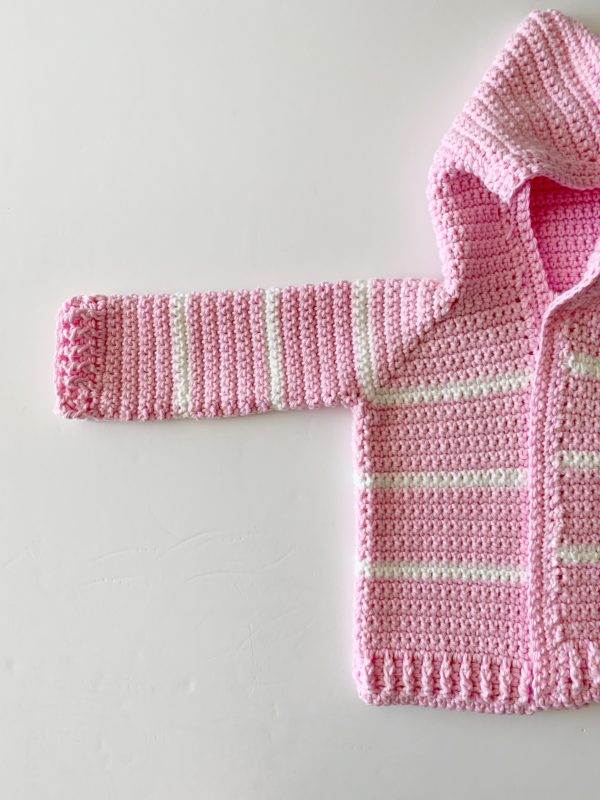 Pink Single Crochet Baby Sweater