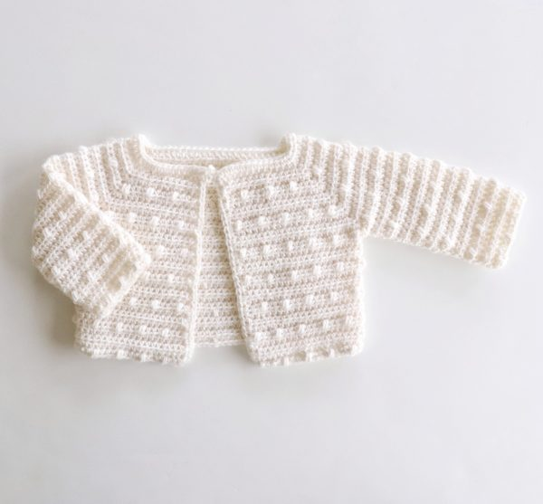 Scattered Dot Crochet Baby Sweater