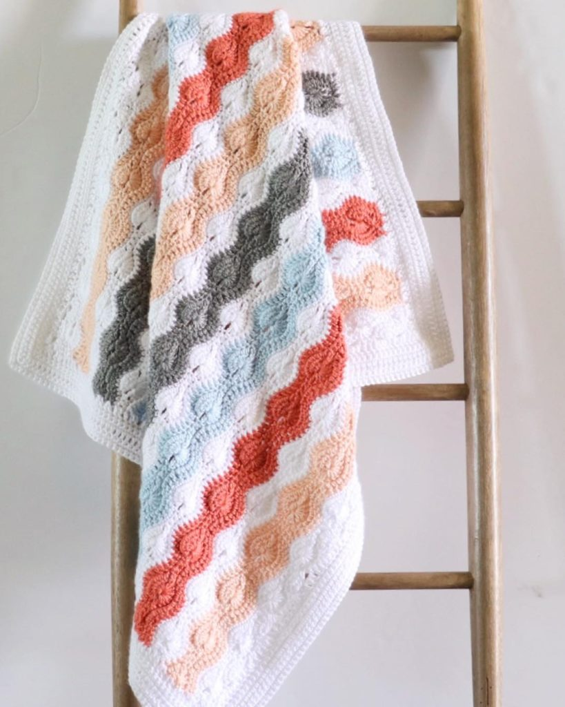 Modified Catherine's Wheel Stitch Baby Blanket | Daisy Farm Crafts
