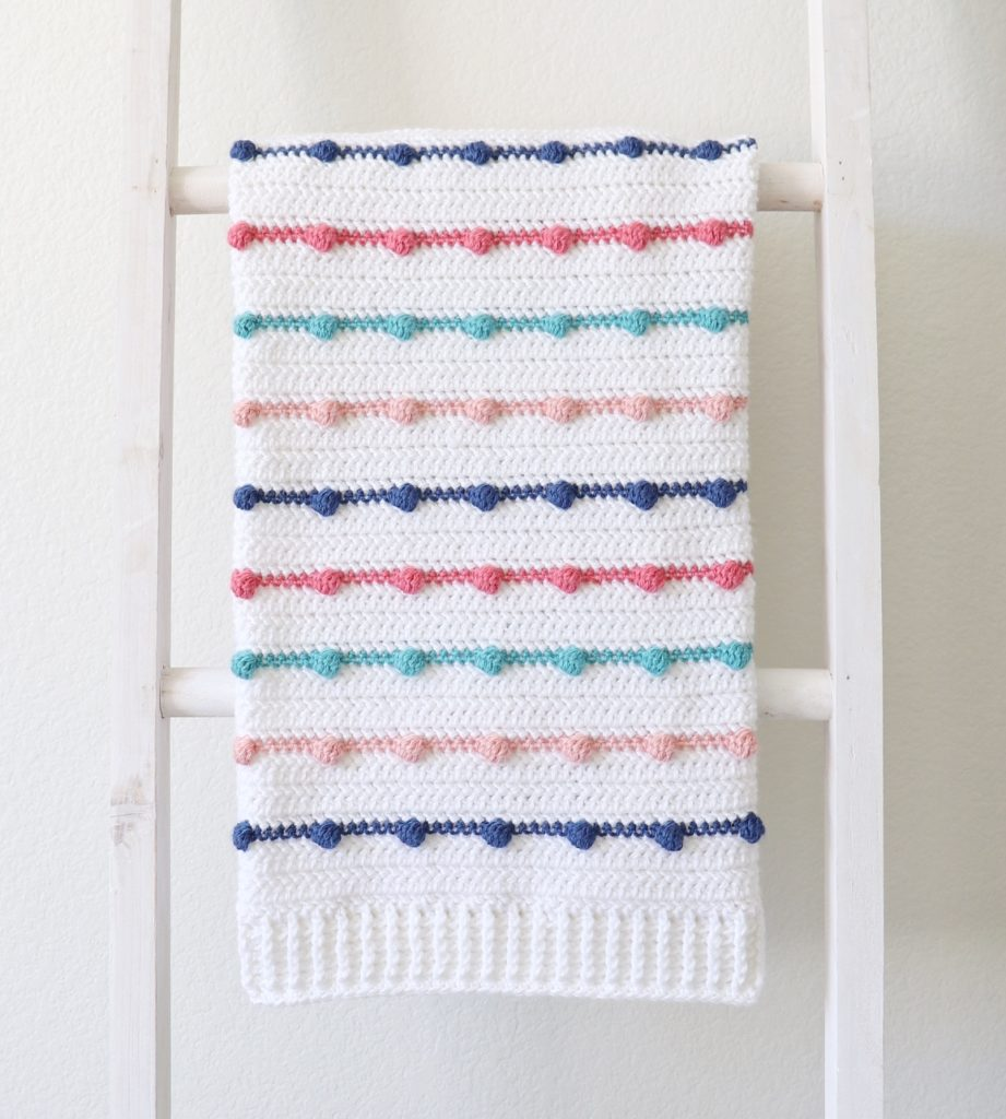 Crochet Bobble Lines Baby Blanket Daisy Farm Crafts