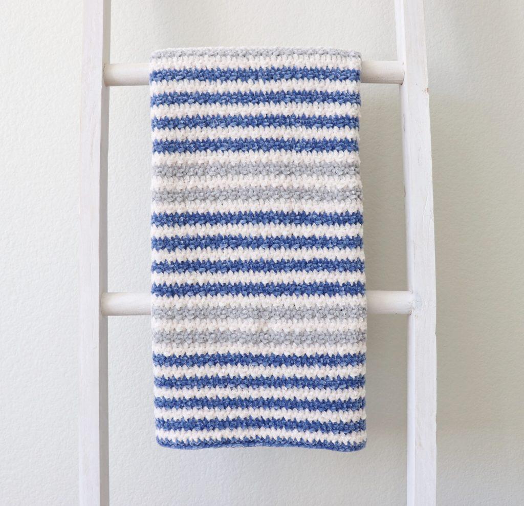 Crochet Cuddly Stripes Baby Blanket