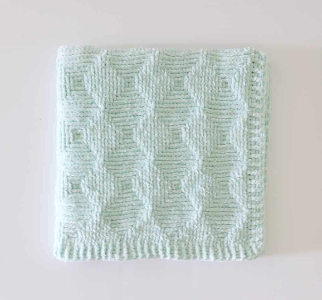 Crochet Ribbed Diamond Blanket