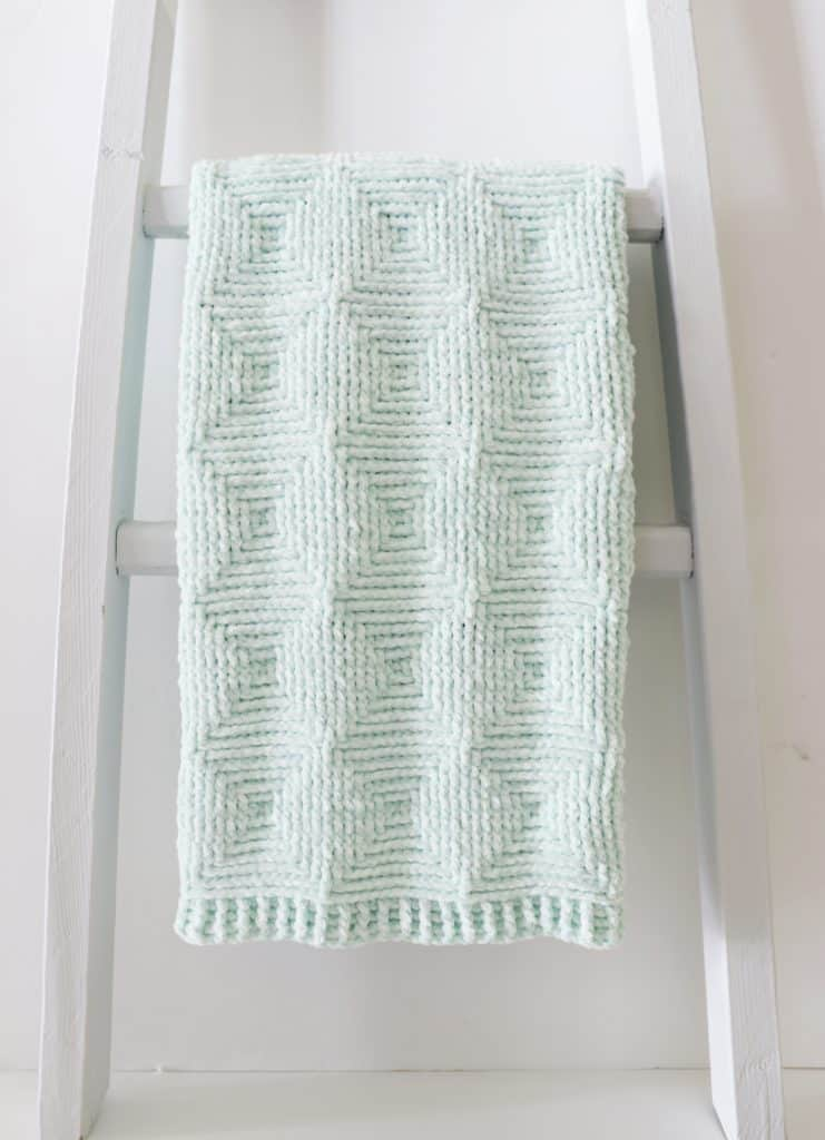 Crochet Ribbed Diamond Blanket | Daisy Farm Crafts - Blanket