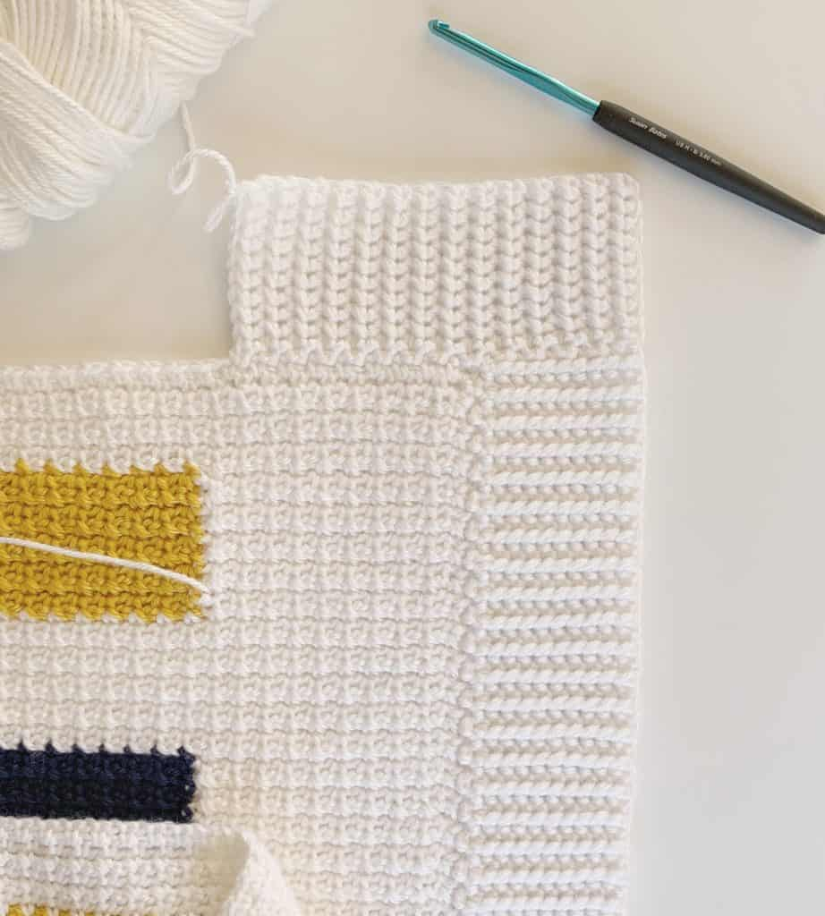 Half Double Slip Stitch Border