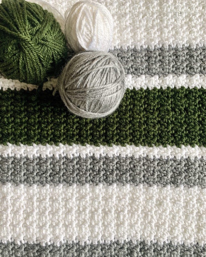 Beginner Striped Crochet Blanket Daisy Farm Crafts